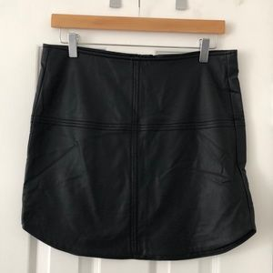 NWT GxF faux leather mini skirt - size 6